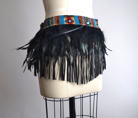Burning Man Clothing - Festival Clothing - Native American Inspired - Feather Top - Feather Dance Costume