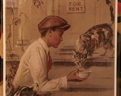 Be Kind to Animals Vintage Print Decoupaged on Wood