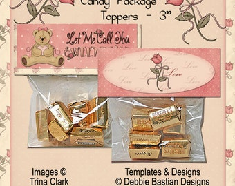 Candy Package Toppers - Digital Download