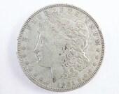 1921D Morgan Silver Dollar Collectible Coin, 1921 D One Dollar Coin Denver Mint, Vintage Coin