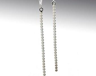 Sterling Pathway Long Drop Earrings