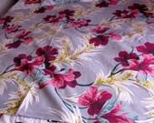 Mid Century Tropical Barkcloth Fabric