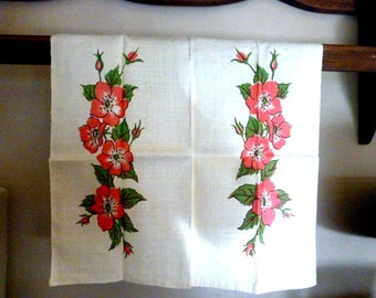Mint Floral Tea or Kitchen Towel
