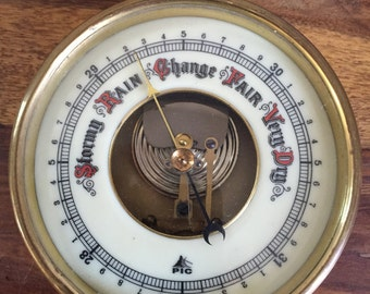 Vintage Brass Nautical Barometer PIC Made in West Germany