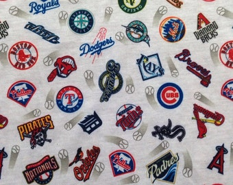 Baseball teams logo stretchy cotton fabric. Dodgers, giants and royals etc 1.5 meters