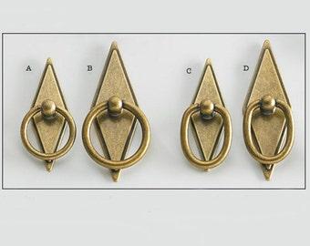 Antique Brass Ring Pulls