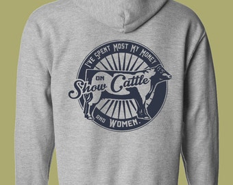 Personalized Cattle Company Show Cattle Hooded Sweatshirt