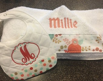 Personalized Hooded Towel & Bib