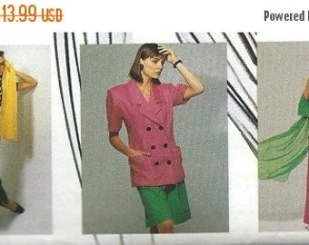 ON SALE McCall's 4130 NY Collection Jacket, Blouse, Skirt, Pants and Shorts Pattern, Size 6 & 8 Uncut