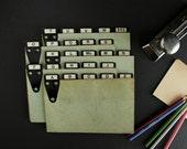 Vintage Alphabet Index Cards File Box Alphabetized 25 Dividers