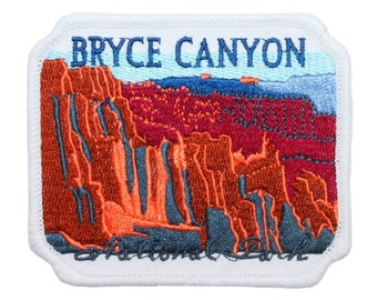 "White Utah ""Bryce Canyon National Park"" Travel Patch Souvenir Iron-On Applique"
