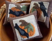 Pumpkins and Crows Bowl Filler Pillow Tucks