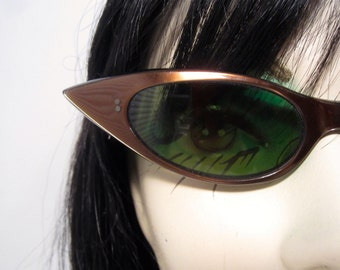 1950's copper colored super pointy cat eye sunglasses