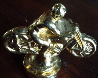 Circa 1950's Motorcycle Trophy Heavy Cast Topper