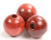 Exclusive wooden beads fall red