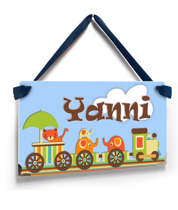 Personalized Cute Baby Boy Cho Cho Train Door Name Plate