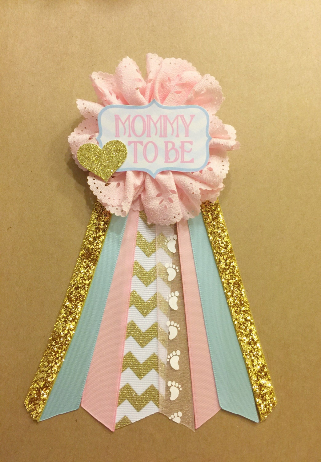 gender reveal pink and blue baby shower pin mommy to be pin