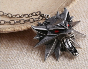 Ready to ship The Witcher 3 Zinc alloy pendant with chain
