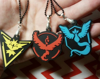 Ready to ship Pokemon Go Team valor necklaces Choose your team- Mystic- Instinct- Valor