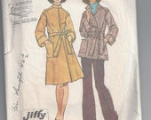Vintage Simplicity Sewing Pattern 6633 Misses Wrap Coat in two lengths Size 14