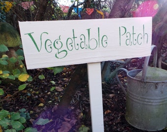 Reclaimed Wooden Vegetable Patch Garden Sign
