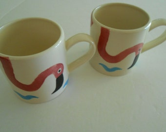 Whittard of Chelsea mug cup flamingos