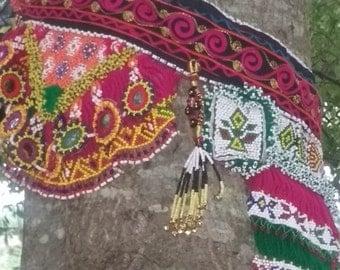 Large Bold Beautiful Tribal Beaded Belly Dancing Belt