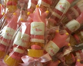 Princess party favor. Pink party favors. Crown lollipops. Unique candy favors. Marshmallow pop favors. Set of 12