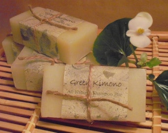 Pear Blossom Natural Shampoo Bar and Soap--Fresh Pear scent with a hint of Ginger