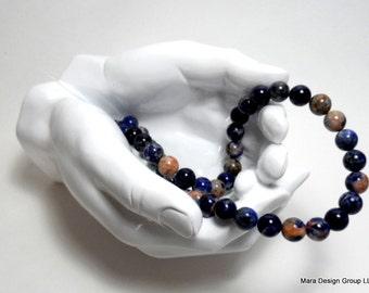 Sodalite round beads - 10 mm - 1/2 strand (20) beads