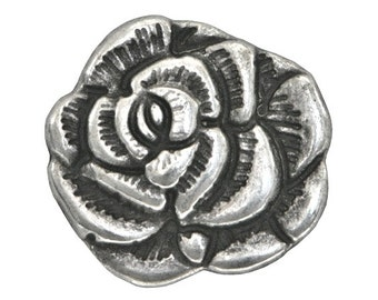 12 Nambe Rose 11/16 inch ( 18mm ) Metal Buttons