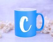 CUSTOM Monogrammed Mug - PERSONALISED with INITIAL