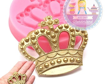 Crown Silicone Mold 48mm Push Mold Flexible Mold 742m# Gumpaste Foundant Chocolate Candy Decorated Cookie Cake BEST QUALITY