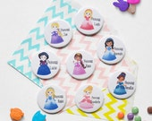 Personalised Princess Birthday Badge - Princess Birthday - Badge for Kids - Button Badge - Personalised Party Gift - Child Party Badge