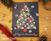 Printable Christmas Countdown Calendar - Christmas Tree - Candy Advent - Scripture Calendar - Christmas Activities - PDF - Instant Download