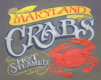 Maryland Crab  Seafood Print