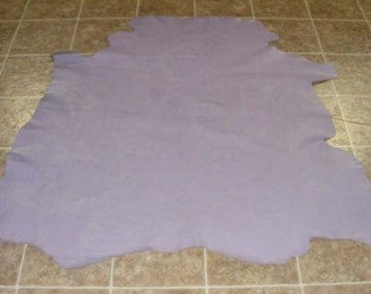 OFH5102-4) Full Hide of Purple Natual Grain Cowhide Leather Skin