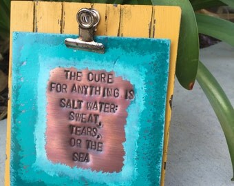 Ocean plaque/ copper stamping