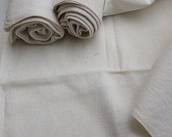 3 Large Hemp Tea Towel, French, Monogrammed C, circa 1900 / vintage Dishcloths