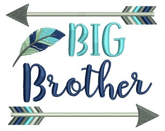Big Brother Arrow Embroidery Design- Instant Download