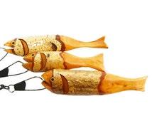 String of Birch Folk Art Fish Vintage Hand-Carved Today's Catch