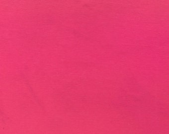 "ℳ Cha Cha Hot Pink Cotton Blend Knit 58"" FC12712 Fabric By The Yard, 1 yard"