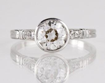1920s Engagement Ring - Platinum and Diamond Ring