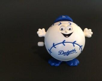 Vintage Rare 1989 MLB Dodger Baseball Windup Hopper Toy