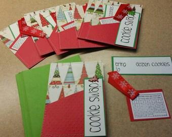 Christmas cookie swap cards