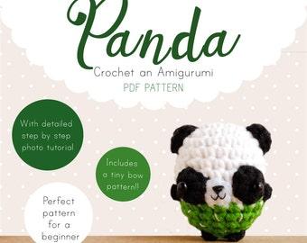 Panda Amigurumi Pattern, Panda Crochet Pattern, Panda Amigurumi PDF pattern