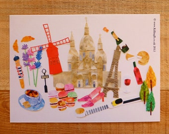 A4 Print 'Paris'