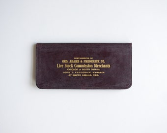 Vintage Live Stock Commission Merchants Leather Pocket Ledger - 1904 - Pristine Condition, Clean Inside