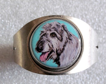 Irish Wolfhound Original Art Cuff Bracelet
