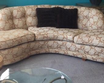 Hollywood Regency Serpentine Sofa
